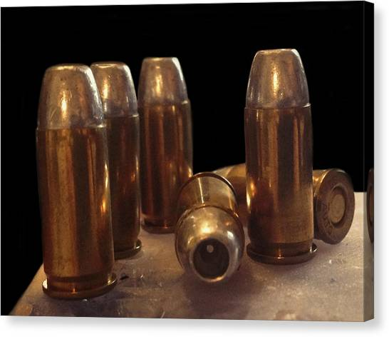 Bullet Art 32 Caliber Bullets 3514 Canvas Print