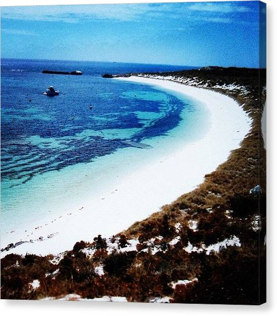 White Sand Canvas Print - Instagram Photo by Jeremy Bomford