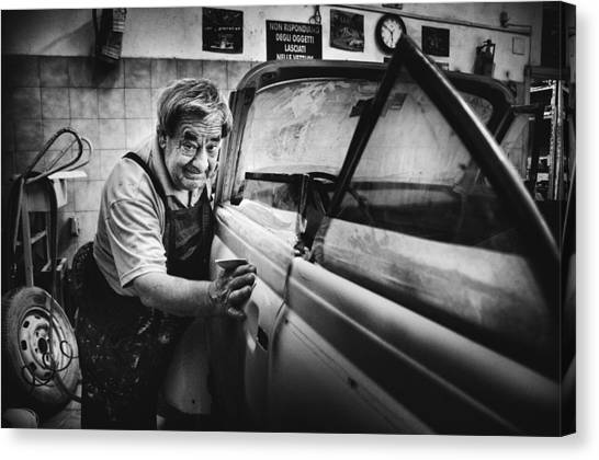 Truck Canvas Print - Untitled by Antonio Grambone
