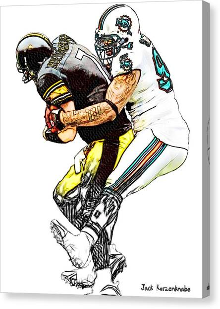 Ben Roethlisberger Canvas Print - 328 by Jack K