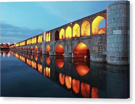 Iranian Canvas Print - 33 Pol by Mohammadreza Momeni