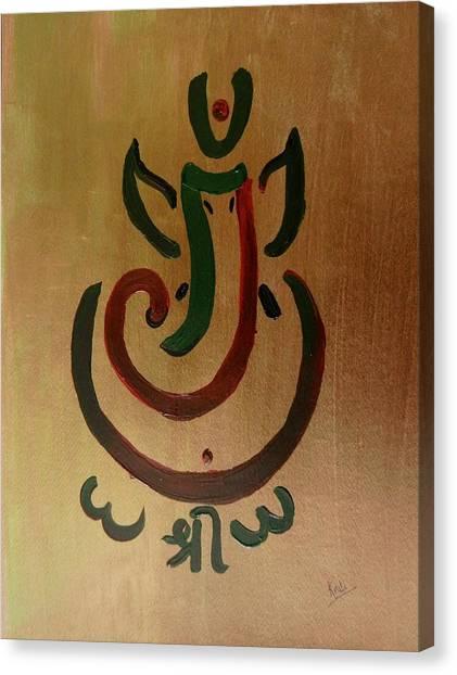 33 Rakta Ganesh Canvas Print