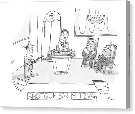 Torah Canvas Print - New Yorker April 23rd, 2007 by Zachary Kanin