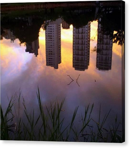 Lake Sunsets Canvas Print - Instagram Photo by Hermes Cavalcante
