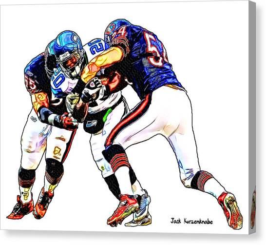 Brian Urlacher Canvas Print - 335 by Jack K
