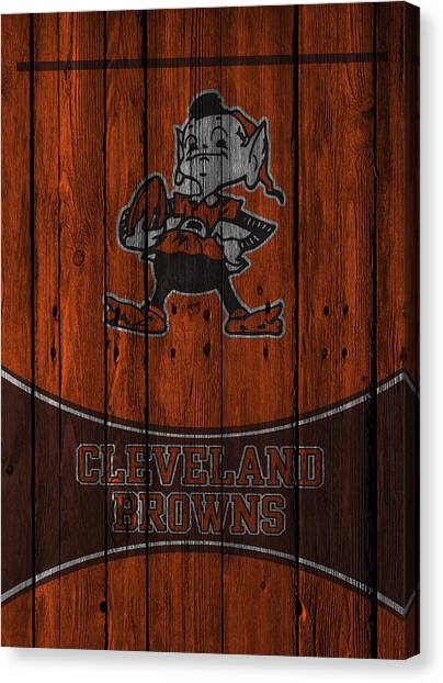 Afc Canvas Print - Cleveland Browns by Joe Hamilton