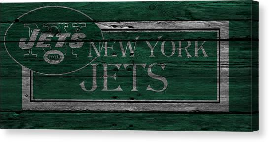 New York Jets Canvas Print - New York Jets by Joe Hamilton