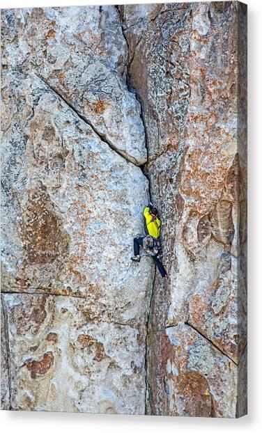 Rock Climber Canvas Print by Elijah Weber