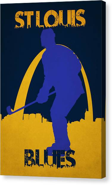 St. Louis Blues Canvas Print - St Louis Blues by Joe Hamilton