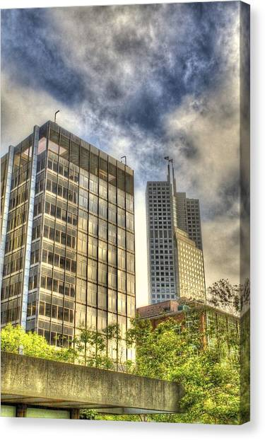 345 California Center Two Flags Canvas Print