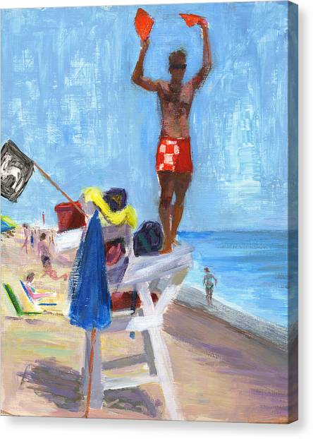 Lifeguard Canvas Print - Rcnpaintings.com by Chris N Rohrbach