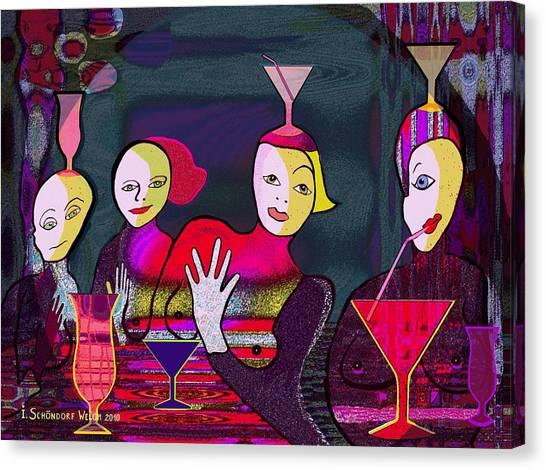 349 - Crazy Cocktail Bar   Canvas Print