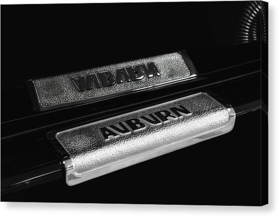 1935 Auburn Supercharged Step Plate Reflection Canvas Print