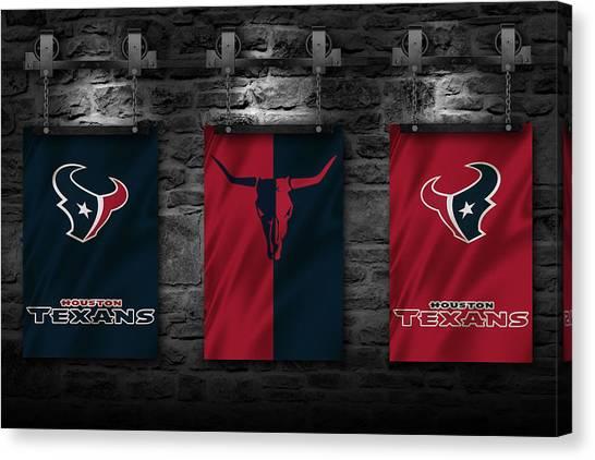Houston Texans Canvas Print - Houston Texans by Joe Hamilton