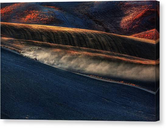 Rolling Hills Canvas Print - Untitled by Massimo Della Latta