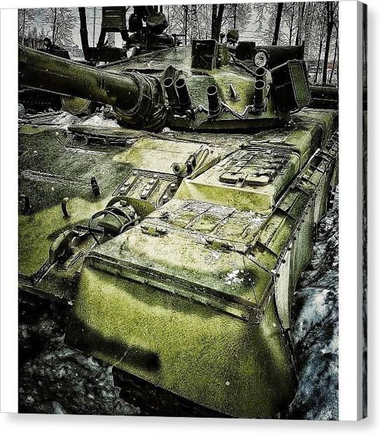 Tanks Canvas Print - #instagramband #webstagram #gf_daily by Marianna Garmash
