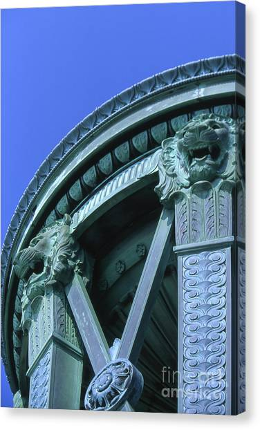 35x11 Perrys Victory Memorial Photo Canvas Print