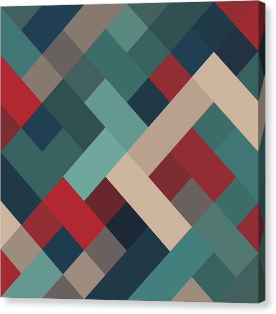 Block Canvas Print - Pixel Art by Mike Taylor
