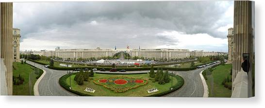 Parliament Hill Canvas Print - 360 Degree View Of Nicolae Ceausescus by Panoramic Images
