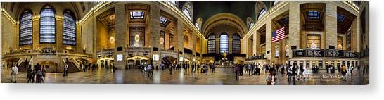 Degrees Canvas Print - 360 Panorama Of Grand Central Terminal by David Smith