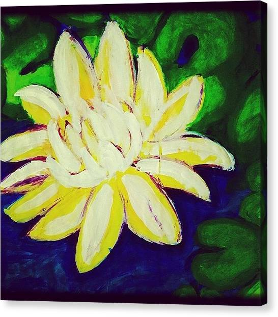 Bamboo Canvas Print - Lotus In Color by Paige Edwards