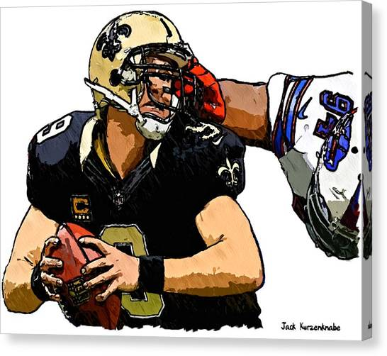 Drew Brees Canvas Print - 368 by Jack K