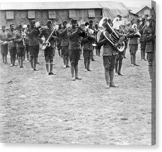 Harlem Canvas Print - 369th Infantry Regiment Band by Underwood Archives