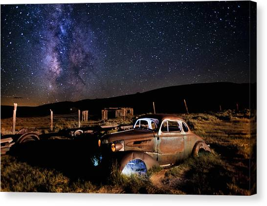 '37 Chevy And Milky Way Canvas Print