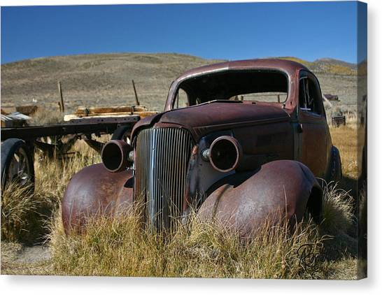 '37 Chevy In Bodie Canvas Print