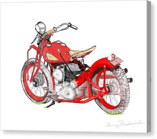 37 Chief Bobber Canvas Print