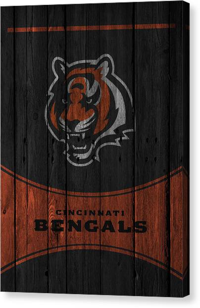 Bengals Canvas Print - Cincinnati Bengals by Joe Hamilton
