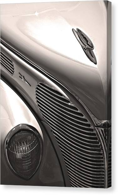 38 Ford Deluxe Sepia Canvas Print