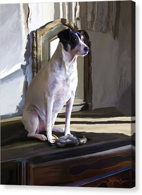 38. Ugly Dog Canvas Print