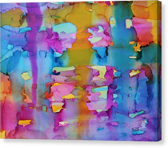3colors Abstract Canvas Print by Kim Thompson