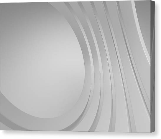Placard Canvas Print - 3d Blank Abstract Architecture by Me4o