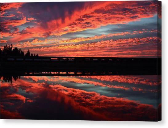 3d Sunset Canvas Print
