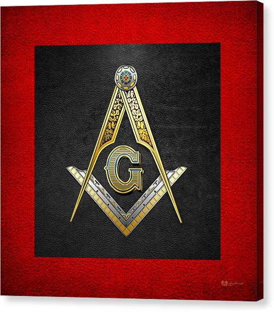 3rd Degree Mason - Master Mason Masonic Jewel  Canvas Print