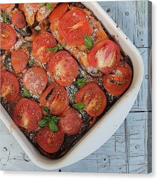 Smoothie Canvas Print - Vegan Lasagna by Kateryna Klymentenko