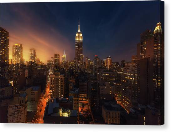 Rooftop Canvas Print - [++] by David Mart?n Cast?n
