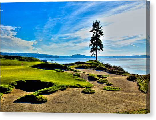 #15 At Chambers Bay Golf Course - Location Of The 2015 U.s. Open Tournament Canvas Print