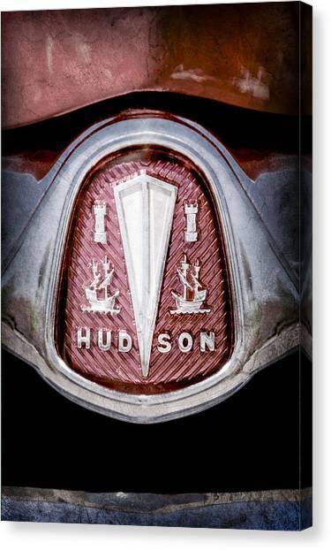 Hornet Canvas Print - 1953 Hudson Hornet Emblem by Jill Reger