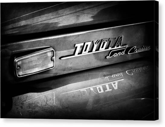 Toyota Canvas Print - 1970 Toyota Land Cruiser Fj40 Hardtop Emblem -0700abw by Jill Reger