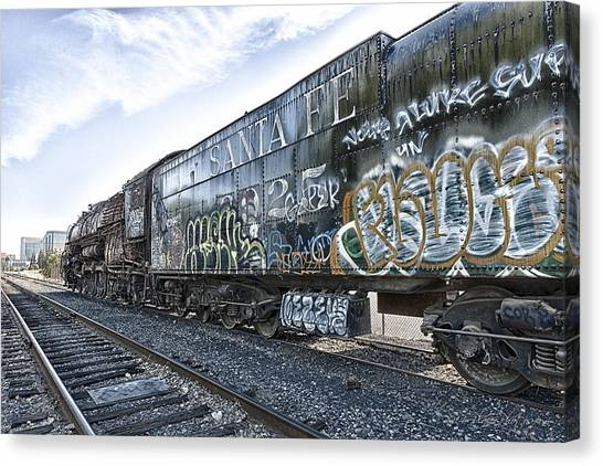 Canvas Print featuring the photograph 4 8 4 Atsf 2925 In Repose by Jim Thompson