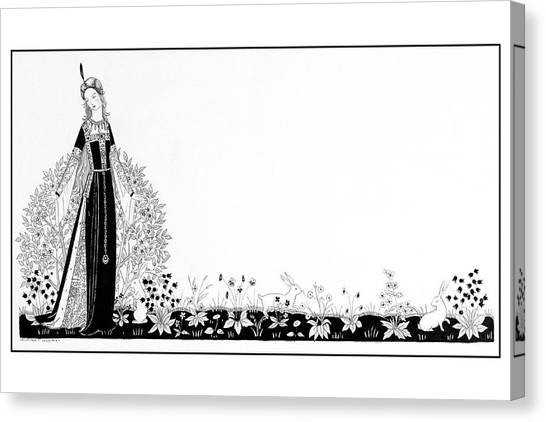 A Person Modeling A Historical Costume Canvas Print by Claire Avery