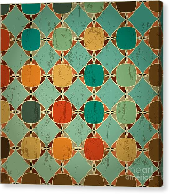 Abstract Geometric Pattern Background Canvas Print by Kirsten Hinte