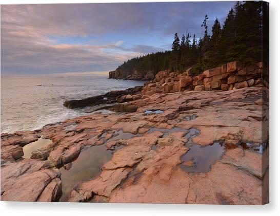 Acadia Sunrise Canvas Print by Stephen  Vecchiotti