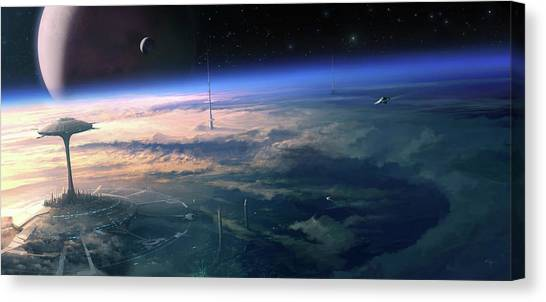 Alien Civilisation Canvas Print by Gary Tonge / Science Photo Library
