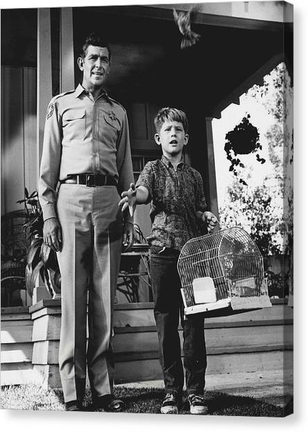 Lead Character Canvas Print - Andy Griffith by Retro Images Archive