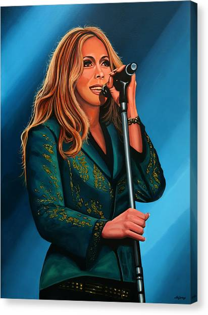 Post-modern Art Canvas Print - Anouk Painting by Paul Meijering