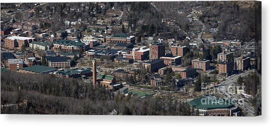 Appalachian State University Asu Canvas Print - Appalachian State University In Boone Nc by David Oppenheimer
